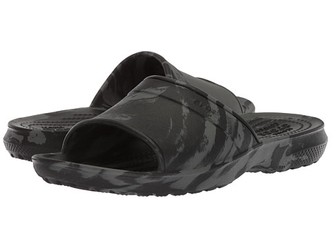 Incaltaminte Fete Crocs Classic Swirl Slide GS (Little KidBig Kid) Black