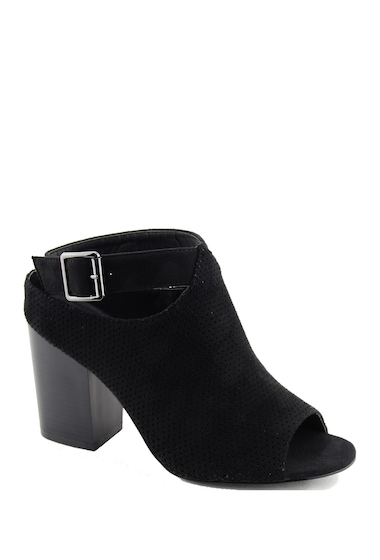 Incaltaminte Femei Nature Breeze Issa Perforated Block Heel BLACK