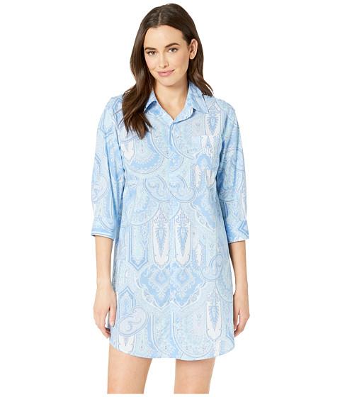 Imbracaminte Femei LAUREN Ralph Lauren 34 Sleeve His Shirt Sleepshirt Blue Paisley