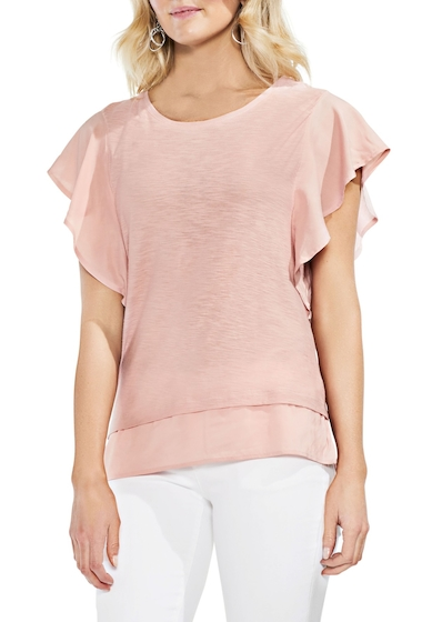 Imbracaminte Femei Vince Camuto Ruffle Sleeve Top PINK FAWN