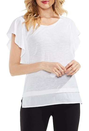 Imbracaminte Femei Vince Camuto Ruffle Sleeve Top ULTRA WHITE