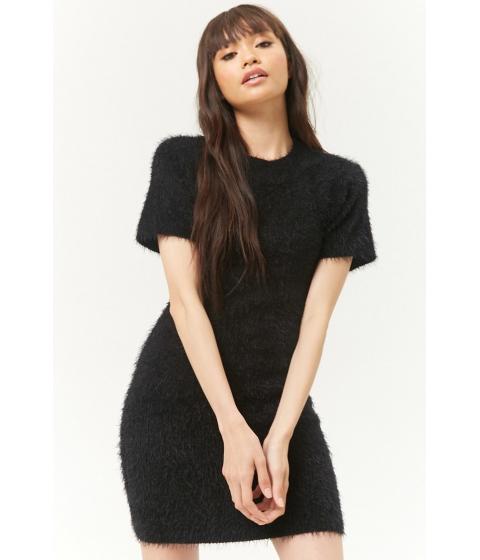 Imbracaminte Femei Forever21 Fuzzy Knit Mini Dress BLACK