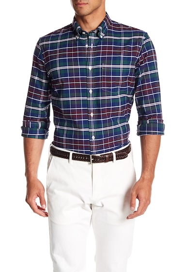 Imbracaminte Barbati Brooks Brothers Oxford Yarn Dye Plaid Print Shirt MULTI