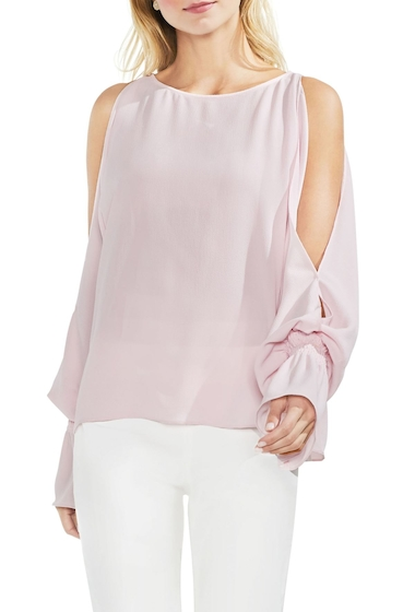 Imbracaminte Femei Vince Camuto Cold Shoulder Flare Cuff Top Regular and Petite PINK BLISS
