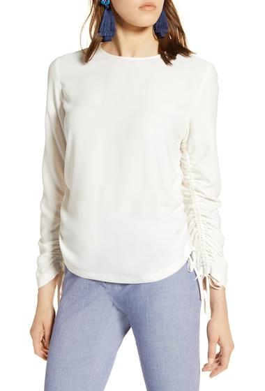 Imbracaminte Femei Halogen Cinched Sleeve Blouse Regular Petite IVORY CLOUD