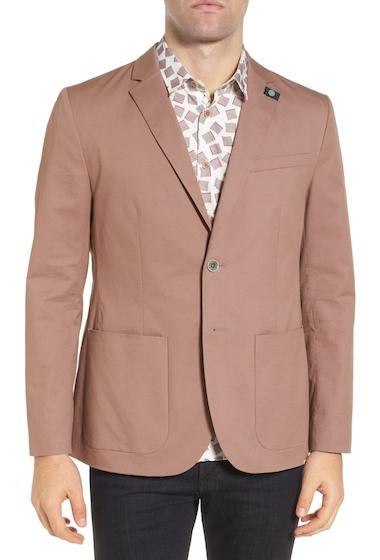 Imbracaminte Barbati Ted Baker London Cliford Trim Fit Stretch Cotton Blazer PINK