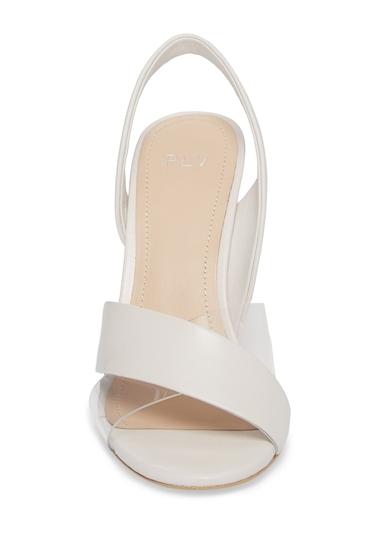 Incaltaminte Femei Pour La Victoire Elly Leather Slingback Sandal IVORY