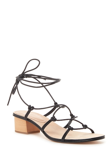Incaltaminte Femei Pour La Victoire Jules Ankle Tie Sandal BLACK