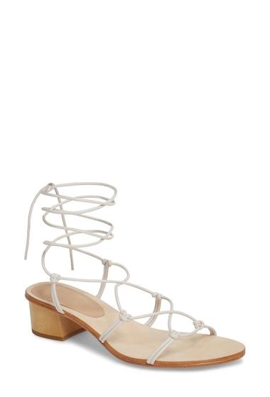 Incaltaminte Femei Pour La Victoire Jules Ankle Tie Sandal IVORY