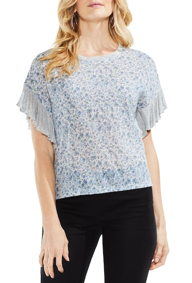 Imbracaminte Femei Vince Camuto Floral Woven Front Top Regular Petite ANTIQ WHI