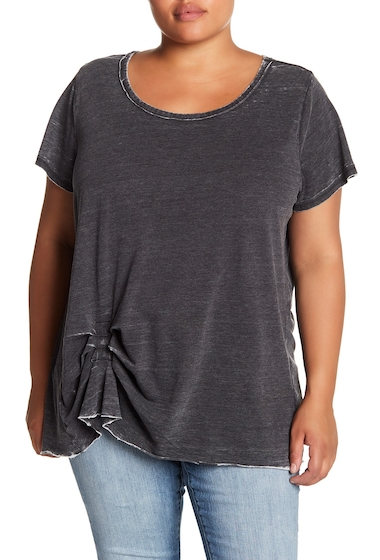 Imbracaminte Femei Melrose and Market Tuck Detail Faded Tee Plus Size BLACK