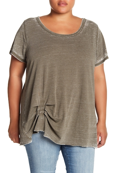 Imbracaminte Femei Melrose and Market Tuck Detail Faded Tee Plus Size OLIVE SARMA