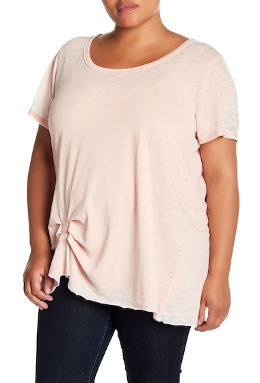 Imbracaminte Femei Melrose and Market Tuck Detail Faded Tee Plus Size PINK ROSECLOUD