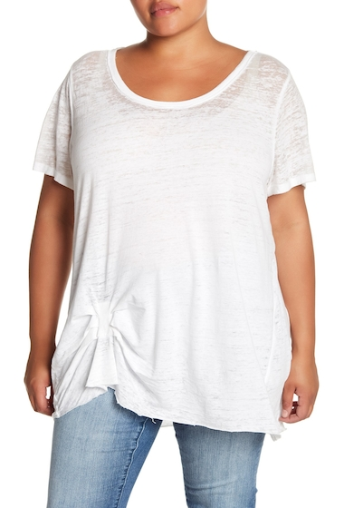 Imbracaminte Femei Melrose and Market Tuck Detail Faded Tee Plus Size WHITE
