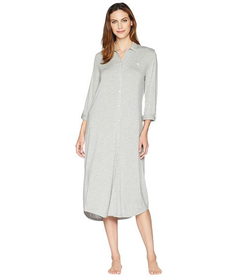 Imbracaminte Femei LAUREN Ralph Lauren Long Sleeve Roll Tab Ballet Sleepshirt Heather Grey