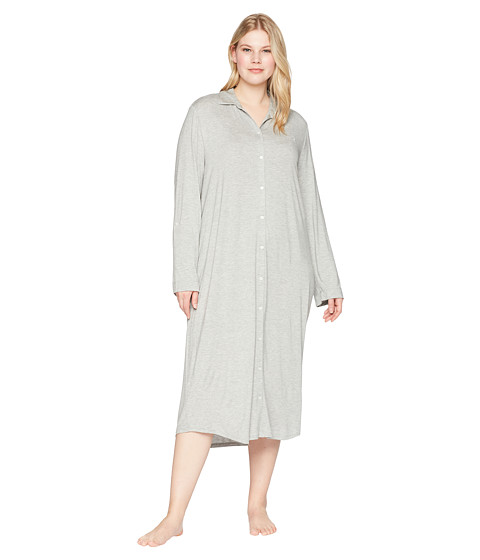 Imbracaminte Femei LAUREN Ralph Lauren Plus Size Long Sleeve Roll Tab Ballet Sleepshirt Heather Grey