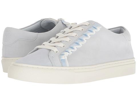 Incaltaminte Femei Tory Burch Ruffle Sneaker Blue SilkSnow White