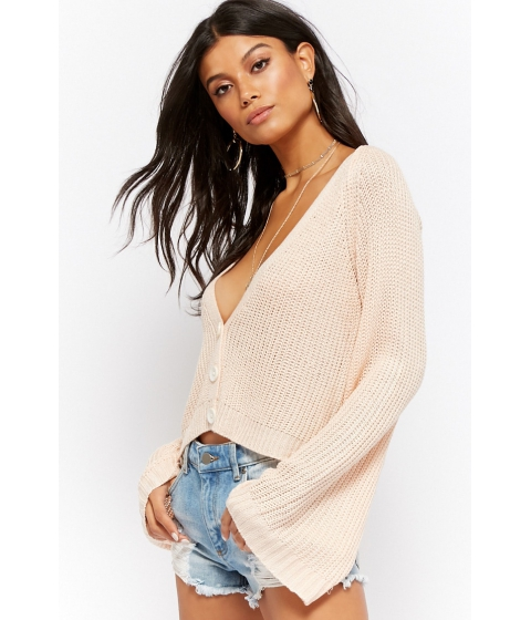 Imbracaminte Femei Forever21 Bell Sleeve Cardigan BLUSH