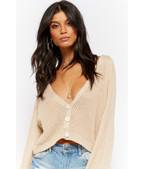 Imbracaminte Femei Forever21 Bell Sleeve Cardigan NATURAL