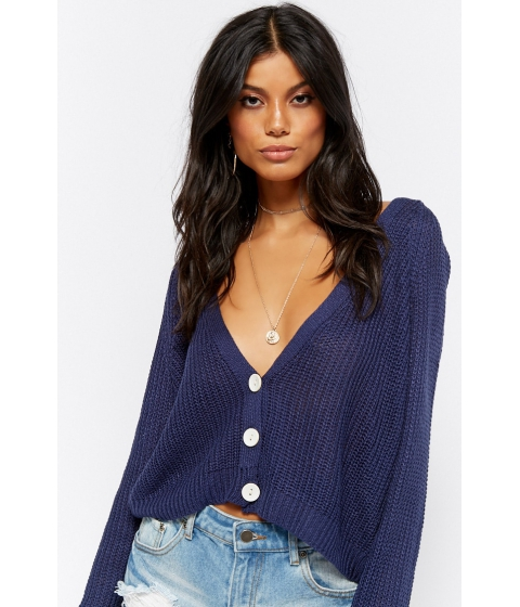 Imbracaminte Femei Forever21 Bell Sleeve Cardigan NAVY