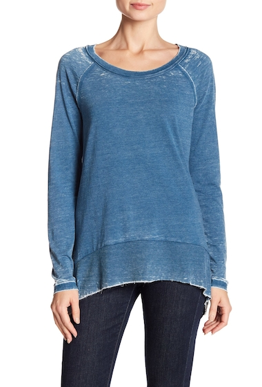 Imbracaminte Femei Melrose and Market Burnout Curved Hem Tee Regular Petite BLUE AURORA