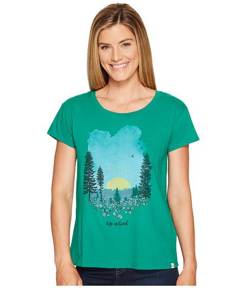 Imbracaminte Femei Life is good Meadow Breezy Tee Jungle Green
