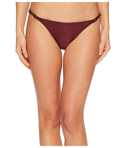 Imbracaminte Femei Kate Spade New York Crescent Bay 74 Shirred Bikini Bottom w Bow Hardware Deep Cherry