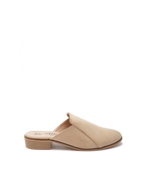 Incaltaminte Femei Forever21 Faux Leather Mules NUDE