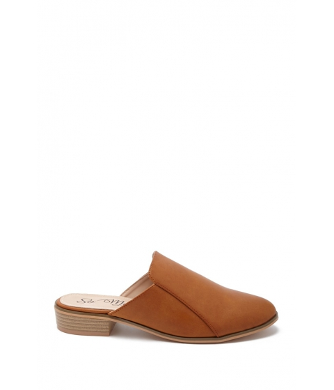 Incaltaminte Femei Forever21 Faux Leather Mules CAMEL