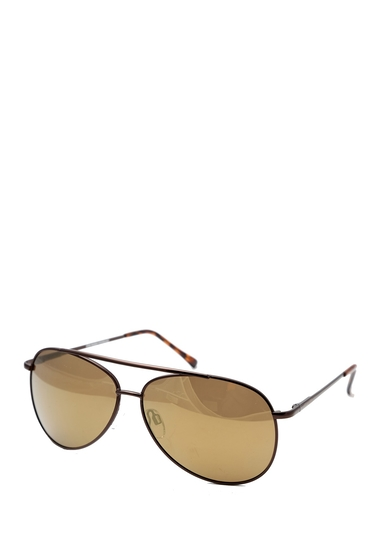 Ochelari Barbati Steve Madden 60mm Aviator Polarized Metal Frame Sunglasses BRONZE