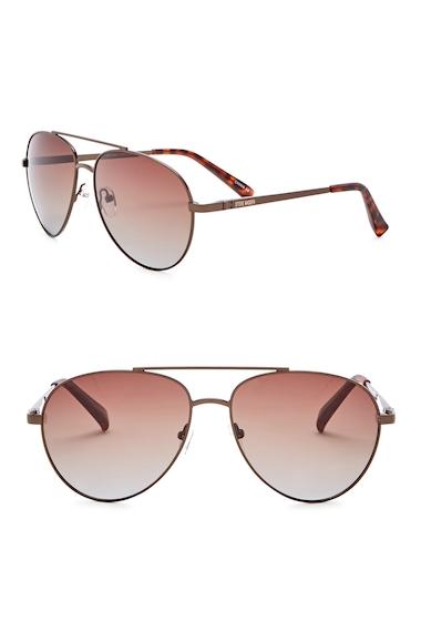 Ochelari Barbati Steve Madden 59mm Aviator Polarized Metal Frame Sunglasses JBRZ