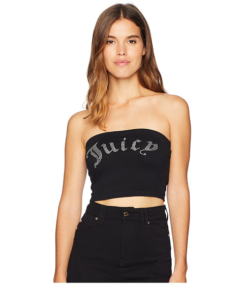 Imbracaminte Femei Juicy Couture Knit Juicy Shrunken Tee Pitch Black