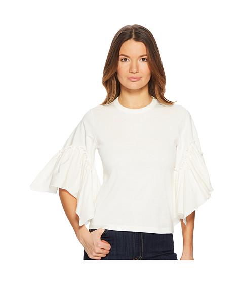 Imbracaminte Femei See by Chloe T-Shirt with Poplin Sleeves White Powder