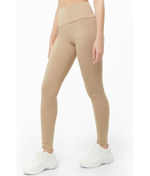 Imbracaminte Femei Forever21 Basic High-Rise Leggings TAUPE