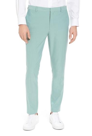 Imbracaminte Barbati TOPMAN Skinny Fit Suit Trousers GREEN