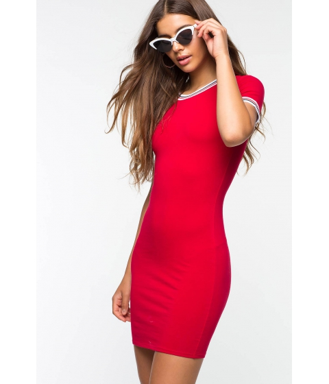 Imbracaminte Femei CheapChic Fired Up Contrast Bodycon Dress Red