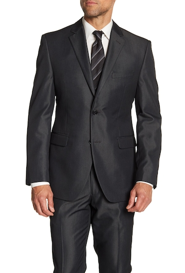 Imbracaminte Barbati Perry Ellis Slim Fit Notch Collar Jacket CHRCLTWILL