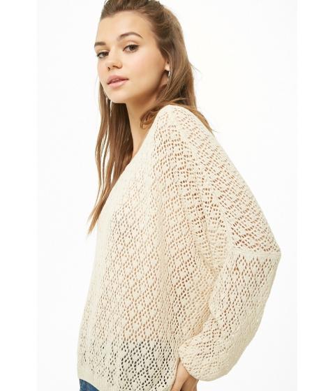 Imbracaminte Femei Forever21 Open-Knit Batwing Top CREAM