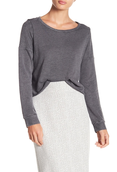 Imbracaminte Femei Melrose and Market Cropped Pullover Sweater Regular Petite GREY MAGNET