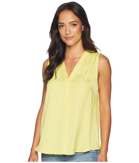 Imbracaminte Femei Vince Camuto Sleeveless V-Neck Rumple Blouse Pineapple