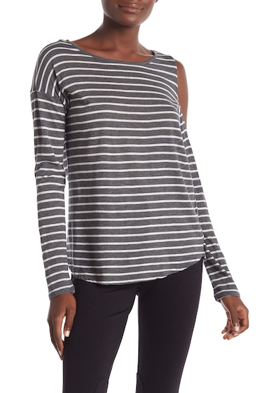 Imbracaminte Femei Vince Camuto Rapid Long Sleeve Striped Blouse MED HTR GR