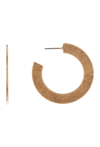 Bijuterii Femei Melrose and Market Flat 37mm Hoop Earrings GOLD