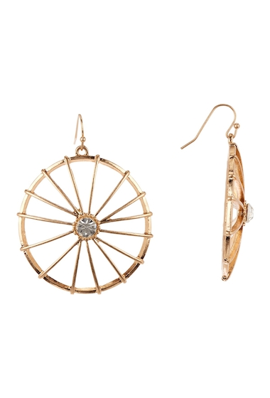Bijuterii Femei Melrose and Market Wagon Wheel Dangle Earrings CLEAR- GOLD