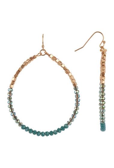 Bijuterii Femei Melrose and Market Beaded Teardrop Dangle Earrings GREEN- GOLD