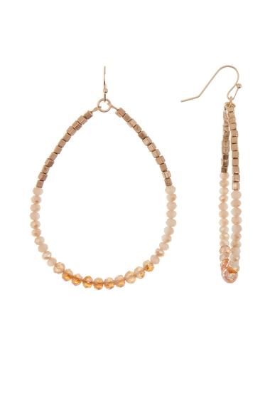 Bijuterii Femei Melrose and Market Beaded Teardrop Dangle Earrings NATURAL- GOLD