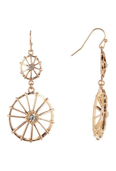 Bijuterii Femei Melrose and Market Double Drop Wagon Wheel Dangle Earrings CLEAR- GOLD