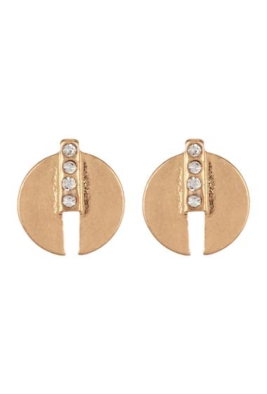 Bijuterii Femei Melrose and Market Pave Split Circle Stud Earrings CLEAR- GOLD
