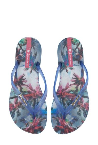 Incaltaminte Femei Ipanema Wave Vista Print Flip-Flop BLUE