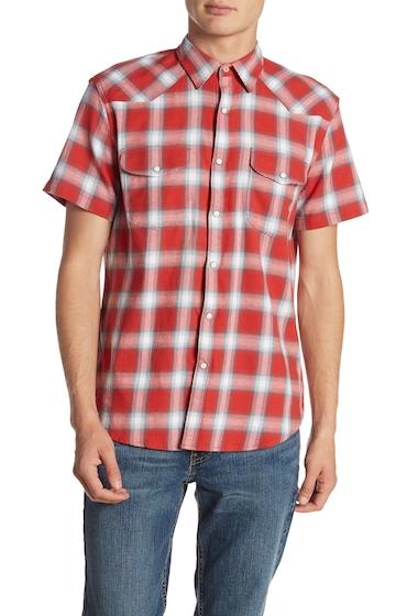 Imbracaminte Barbati Lucky Brand Short Sleeve Western Shirt RED PLAID