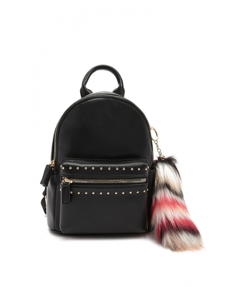 Genti Femei Forever21 Faux Leather Studded Backpack BLACKMULTI